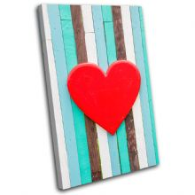 Wooden Heart  Fence Red Love - 13-0554(00B)-SG32-PO